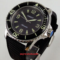 45mm CORGEUT black dial super luminous mechanical Automatic mens watch C116