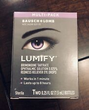 NEW Multi-Pack LUMIFY Redness Reliever Eye Drops, 7.5mL/0.25 fl oz (Pack of 2)