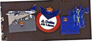 Salt Lake City 2002 Olympics pins: 2 Delta Air Lines; Hallmark Skier & skaters