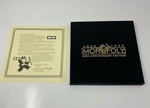 Monopoly 60th Anniversary 1995 Game Board only Game board With Certificate