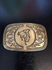 Unique Bucking Bronco Belt Buckle Solid Brass Different Engraved