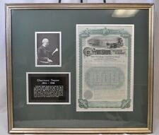 West Shore Railroad Company Framed Bond w/ Portrait & Plaque of Depew (KMT)