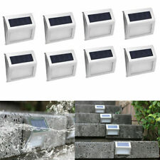 8 PACK  3LED Solar Stairs Light Garden Pathway Step Decking Outdoor Light Lamp