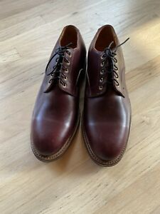 New Viberg Mens Burgundy Calf Skin Leather Derby Shoes Size 12