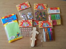 Kids make and do set!! Art and Craft!! Children! Activity! Cards/People/Glue