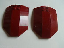 Lego 2 parebrises rouge fonce set 7477 7298 7714 / 2  dark red windscreen