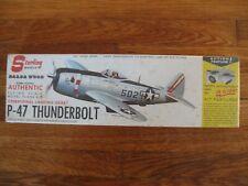 "Vintage Sterling Models P-47 Thunderbolt 20"" Wingspan Balsa Wood Airplane Kit"