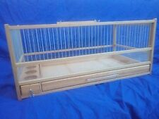 Button Quail Cage :: Hand Crafted Wooden Quail Cage / Slide Out Tray, Plexiglas