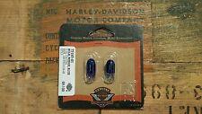 Harley Davidson Blue Wedge Light Bulbs 75185-01 NOS OEM 2 PACK 12V .19A 67136-85