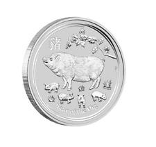 Lunar II Schwein Year of the Pig 2019 5 OZ Silber Silver Argent Australien