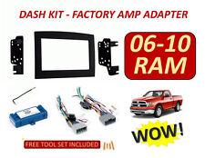 06 07 08 09 10 DODGE RAM INFINITY STEREO RADIO DOUBLE DIN INSTALLATION DASH KIT