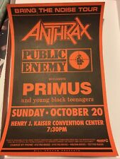 primus poster 13�+19�. Vintage. Mint Condition. From The Bring The Noise 1991.