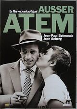 AUSSER ATEM - Orig.Kino-Plakat A1 - Jean-Paul Belmondo, Jean Seberg