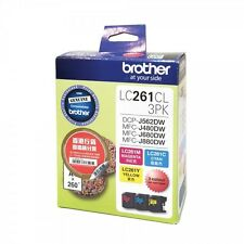 Brother LC261CL Cyan, Magenta and Yellow Standard Ink Cartridge (1pcs Each)