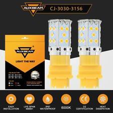 2X 3157 3156 4157 4057 LED Amber Yellow Turn Signal Blinker Corner Light Bulb