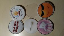 12 x  Large Round  Blank Plastic Button Badges 54mm Insert. Acrylic DIY Fun kids
