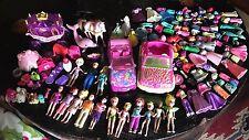 Huge Polly Pocket Lot: Dolls Pets Disney Princess Clothes Accessories Cars