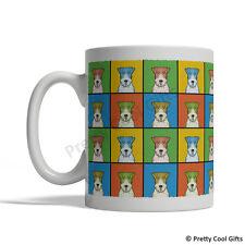 Wire Fox Terrier Dog Mug - Cartoon Pop-Art Coffee Tea Cup 11oz Ceramic