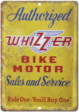 """Whizzer Bicycle Motor Vintage Dealer Sign 10"""" x 7"""" Reproduction Metal Sign B280"""