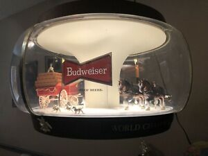 Budweiser Clydesdale Carousel Lamp - Recently Refurbished - Works Great!