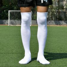 US Men Sport Football Soccer Long Socks Solid Knee High Bottom Non-slip Socks