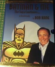 BATMAN & ME HB BOOK + BOB KANE SIGNED GOLD FOIL SEAL C.O.A. DC SLIPCASE LIMITED