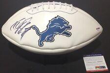 CALVIN JOHNSON JR. SIGNED AUTOGRAPHED FOOTBALL DETROIT LIONS PSA/DNA