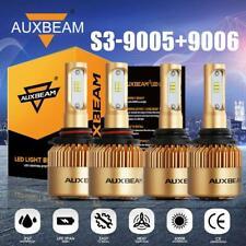 AUXBEAM S3 Combo 9005+9006 LED Headlight Bulb for GMC Sierra 1500 2500 HD 01-06