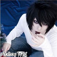 Cosplay Wig Kostüme Perück Death Note Lawleit Schwarz Haar