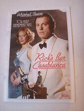 Rick's Bar Casablanca programme 1991 Leslie Graham very good condition