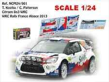 DECALS 1/24 CITROËN DS3 WRC -#122 KOSTKA -RALLYE DE FRANCE ALSACE 2013- NCM24001