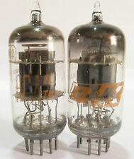 2 matched 1962 RCA 6AN8A tubes - Gray Plates, Top O Getter