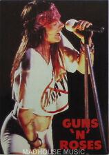 GUNS N ROSES Axel White Shorts POSTCARD OLIVER BOOKS UK Official 1994 Cat OB065