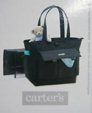 Carter's Black Vinyl DIAPER BAG - New - With Tags