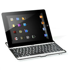 BK Aluminum Wireless Bluetooth Keyboard Case Snap on Cover Stand for iPad Mini