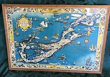 Antique 1930 Pictorial Map Bermuda Islands Women Cartographer Shurtleff McMillin