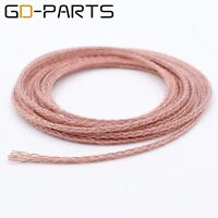 3.5mm Braided PTFE OCC Copper Wire Headphone Cable For HIFI Audio DIY Upgrade 5M
