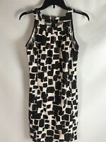 Jessica Howard Womens Sheath Dress Size 6 Brown White Knee High Polyester Knit
