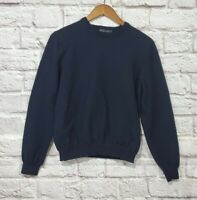 Brooks Brothers Navy Blue Italian Merino Wool Sweater Women's Size Medium