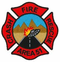 Area 51 Crash Fire Rescue Patch / Space Force ARFF / UFO / Groom Lake Nevada