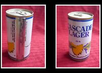 COLLECTABLE AUSTRALIAN STEEL BEER CAN, CASCADE LAGER 1987 MASTERS GAMES