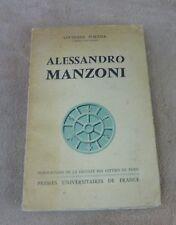 LUCIENNE PORTIER - ALESSANDRO MANZONI - PUF 1956