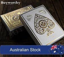 Artisan White Gold Artisans Theory 11 Embossed Box, Poker Playing Cards Deck