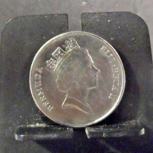CIRCULATED 1994 25 CENTS BERMUDA COIN (42818)1.....FREE SHIPPING!!!!!!