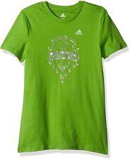 MLS Seattle Sounders FC Girls -Liquid Silver Shine Short sleeve Tee, Green, XL