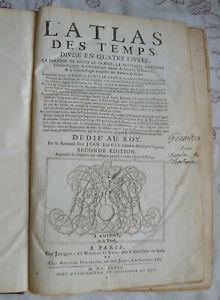 1685 ATLAS DES TEMPS EN 4 LIVRES J.L. AMIENS 2° EDITION BE PLANCHES SYSTEME ROUE