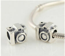 hot European Silver CZ Charm Beads Fit sterling 925 Necklace Bracelet Chain mw12
