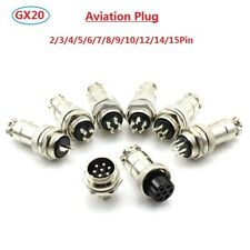GX20 Aviation Plug Male+Female Cable Metal Connector 2/3/4/5/6/7/8/9/10/12-15Pin