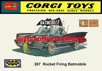 Corgi Toys 267 Batman Batmobile 1966 A4 Size Poster Advert Leaflet Shop Sign