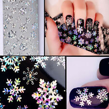 Christmas Snowflakes 3D Nail Art Stickers Manicure Decals Nail Art Accessories
